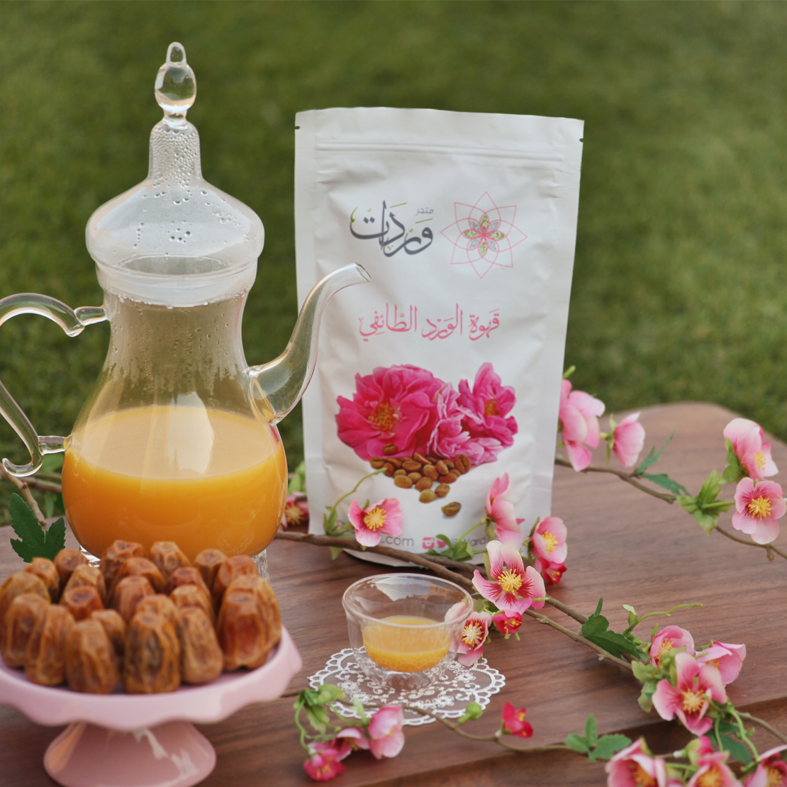 قهوة الورد الطائفي 6 أكياس متجر وردات